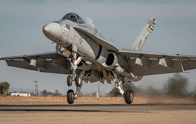 Practice Makes Perfect! - Marine Corps F/A-18 'Hornet' Performs Touch & Go's at NAF El Centro