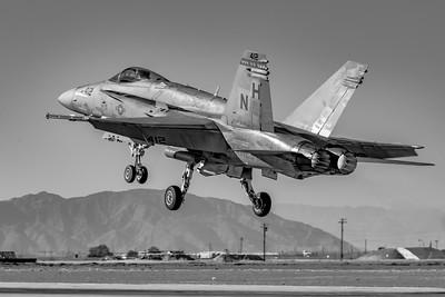 'Hornet' Roar! - Marine F/A-18 'Hornet' Departing NAF El Centro