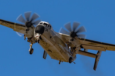Gotta Love the 8-Bladed Props! - Navy Grumman C-2A 'Greyhound' - In the Pattern at NAF El Centro