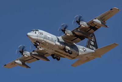 Marine Corps KC-130J 'Hercules'  - VMGR-352 'Raiders' QB-6765 - Overhead at NAF El Centro
