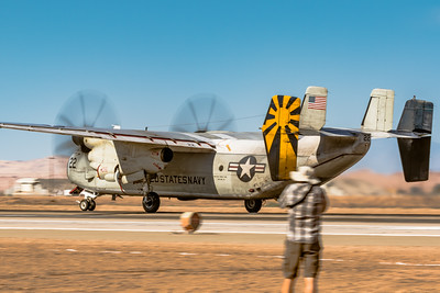 As a Grumman C-2A 'Greyhound' Takes Off - NAF El Centro