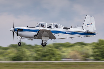 N608NA - NASA 'Glenn Research Center' - Beech T-34C Turbo 'Mentor' - Landing on KCLE Runway 'Six Left' / 6L