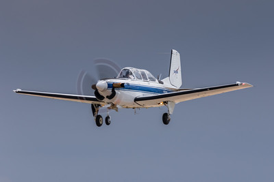 N608NA - NASA 'Glenn Research Center' - Beech T-34C Turbo 'Mentor' - On Final for KCLE Runway 6L
