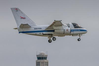 N601NA - NASA Glenn Research Lockheed S-3B Viking  - On Final for KCLE Runway 24R!