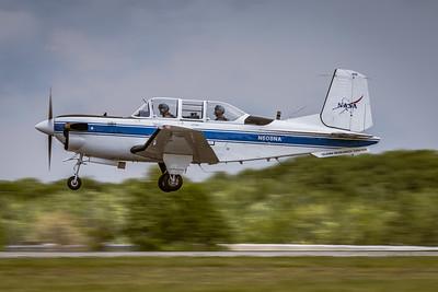 N608NA - NASA 'Glenn Research Center' - Beech T-34C Turbo 'Mentor' - Landing on KCLE Runway 6L
