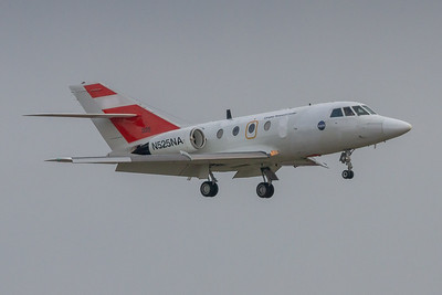 N525NA - NASA Langley Research HU-25C Guardian (Dassault Falcon 20G) On Final for KCLE Runway 24L!