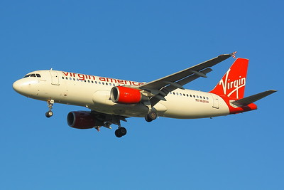 N628VA - Virgin America -  Airbus A320-214  - Final Approach to KSEA (Seattle-Tacoma International) Runway 34C