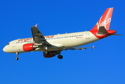 N628VA - Virgin America -  Airbus A320-214  - On Final for KSEA (Seattle-Tacoma International) Runway 34C