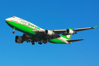 B-16411 -  'EVA Air' - Boeing 747-45E - On Final for KSEA (Seattle-Tacoma International Airport ) Runway 34C