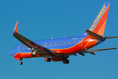 N730SW - Southwest Airlines -  Boeing 737-7H4 - On Final for KSEA (Seattle/Tacoma International) Runway 34C