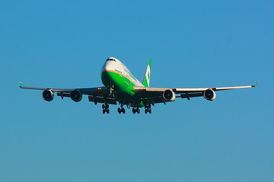 B-16411 -  'EVA Air' - Boeing 747-45E - Lined Up On Final for KSEA (Seattle-Tacoma International Airport ) Runway 34C