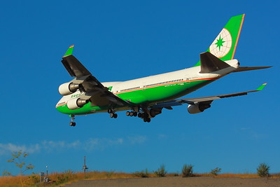 B-16411 -  'EVA Air' - Boeing 747-45E - Landing on KSEA (Seattle-Tacoma International Airport ) Runway 34C