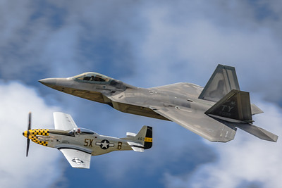 Legacy Flight! - F-22 'Raptor' & P-51 'Mustang'