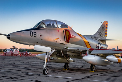 Catching the First Light! - McDonnell Douglas TA-4J 'Skyhawk' on the Ramp