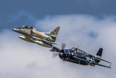 Naval Heritage! - McDonnell Douglas TA-4J 'Skyhawk' & Grumman TBM-3 'Avenger'