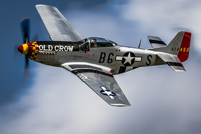 An 'Old Crow' Zipping By! - North American P-51 'Mustang'
