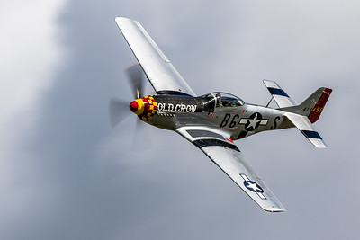 Just an 'Old Crow' Zipping By! - North American P-51 'Mustang'