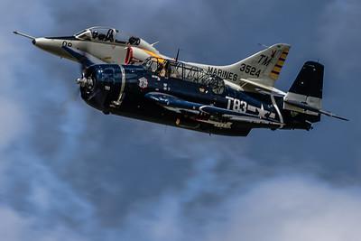 A Little Precision Flight! - McDonnell Douglas TA-4J 'Skyhawk' & Grumman TBM-3 'Avenger'