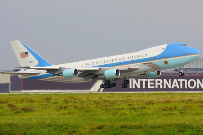 'Air Force One' - Departing from CLE on 24L