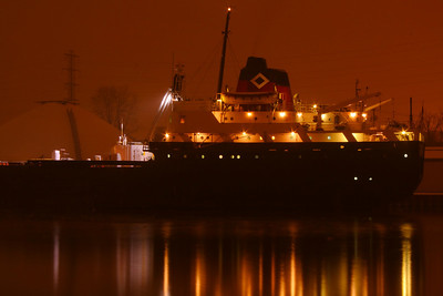 Night Lights - Stern of the 'Canadian Transfer'