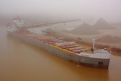 The 'Calumet' - Foggy Morning Dockside in Lorain, Ohio!