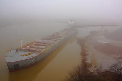 The 'Calumet' - Dockside in the Fog!
