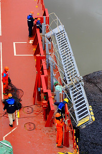 On Deck - Lowering the 'Gangway'
