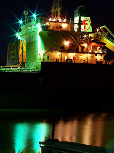 """M/V Federal Yukon"" at Night!"