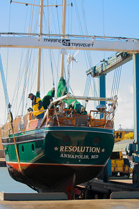 'S/V Resolution' - At 39 Tons and 50 Ft - Winter Haulout Takes One Big Marine Lift!