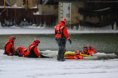 U.S.C.G.  - Ice Rescue Training on the Black River!