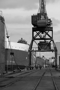 B&W Twist - The Port of Toledo - Toledo, Ohio  © 2013 Paul L. Csizmadia  All Rights Reserved  No Use Allowed without Permission