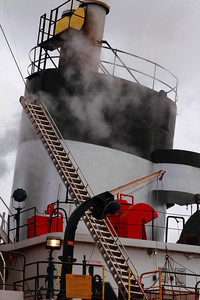Funnel of the 'S.S. Arthur M. Anderson' - 'Fitting Out'  at the end of Winter Layup  © 2013 Paul L. Csizmadia  All Rights Reserved  No Use Allowed without Permission