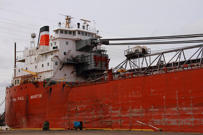 Laker 'Rt. Hon. Paul J. Martin' - 'Fitting Out' - Toledo, Ohio  © 2013 Paul L. Csizmadia  All Rights Reserved  No Use Allowed without Permission