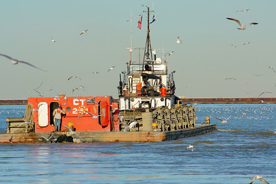 Tug 'Manitou' - Headed Out with a Load from the River's  Bottom!