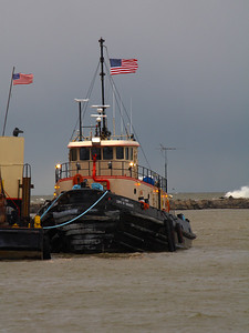 The Tug 'Cheraw'  A breezy day on Lake Erie as the Army Corps of Engineers Tug  'Cheraw' prepares for operations in and around the harbor of Lorain, Ohio.
