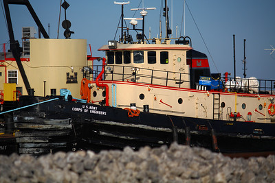 The 'Cheraw'  U.S. Army Corps of Engineers Harbor Tug 'Cheraw' in Lorain, OH.  Originally built for the U.S. Navy as Harbor Tug YTB-082 and launched in 1970, she was transferred to the Corps of Engineers Buffalo District in 1996.