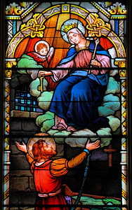 'Mary Most Powerful' - In Stained Glass!
