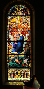 'Mary Help of Christians' (Sancta Maria Auxilium Christianorum) - In Stained Glass!