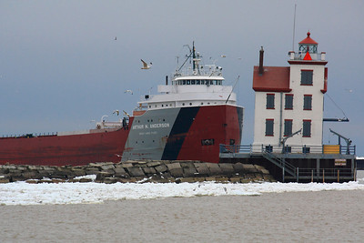 'S.S. Arthur M. Anderson' - At the Lorain Light!