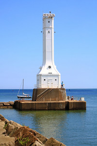 "Shades of Summer Blue at the ""Huron Harbor Light""!"