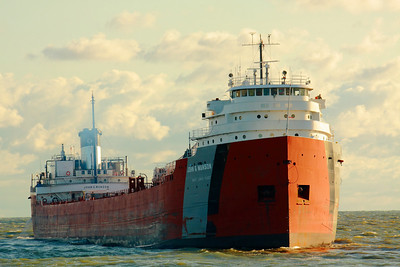 'S.S. John G. Munson' - Backing Out onto Lake Erie!