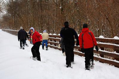 Snowshoe Hiking the 'North Coast Inland Trail' - Kipton, Ohio!