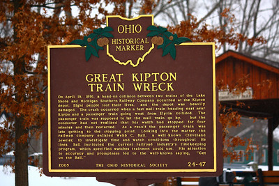 "Site of the ""Great Kipton Train Wreck"" of 1891!"