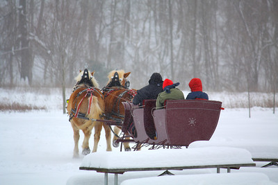 On a Two Horsed Open Sleigh!