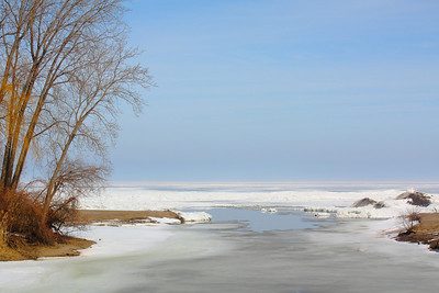 March Thaw - At the Mouth of 'Old Woman Creek' Estuary!