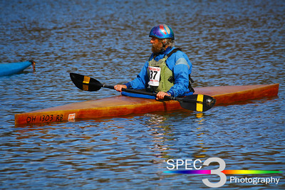 Homebuilt and a Kayak of his Own Design! Keel-Haulers 'Vermilion River Race' 2011  © 2011 Paul L. Csizmadia / Spec3 Photography  All Rights Reserved  No Use Allowed without Permission
