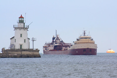 """American Fortitude"" -  Cleveland Harbor Entrance"