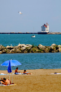Chilling Out - On Lakeview Beach!  The Beach at Lakeview Park, along the shores of Lake Erie in Lorain, Ohio.