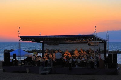 A Concert on the Beach!  A concert and sunset on the beach at Lakeview Park along the shores of LAke Erie in Lorain, Ohio on the longest day of the year.