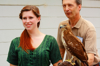 Ohio Scottish Games 2010 - A Lass, A Falconer, & 'Zephyr' a Red-tailed Hawk!